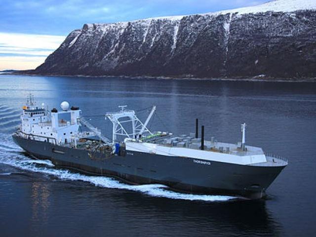 Рыболовное судно в Норвегии